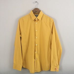 Men's Yellow Gold Express Button Down Shirt